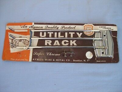 Vtg Aywon Wire & Metal co. Chrome 3-Arm Kitchen Towel Holder Drying Rack - NEW
