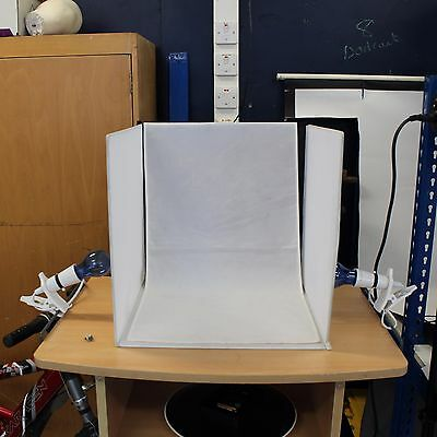 Portable Folding Photographic Box Backdrop with Lighting for small items