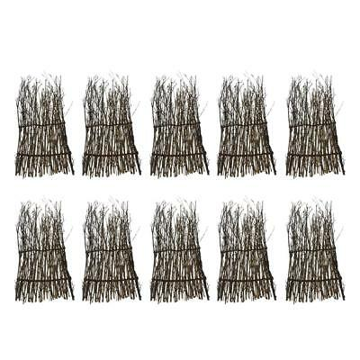 10x Bamboo Peeled Reed Screening Roll Garden Screen Fence Fencing Decor 27cm