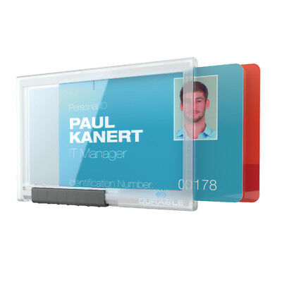 Durable Card Holder Pushbox Duo Transparent 892119