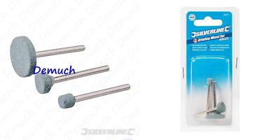 New 3 Pcs ROTARY TOOL GRINDING STONE SET 7mm-20mm Dremel Craft Bit For Metal UK✔