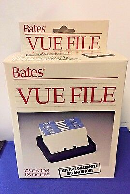 NIB Bates VUE FILE with 125 Cards