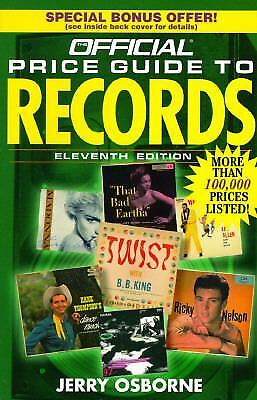 The Official Price Guide to Records by Jerry Osborne