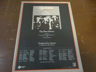 Queen - The Game with Tour Dates 1980 Magazine Print Ad