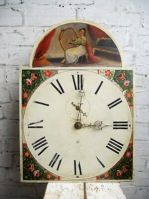 Antique Georgian Victorian Longcase Clock 30 Hour Movement Arched Dial Hand Only