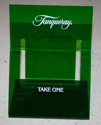 Vintage Green Acrylic Tanqueray Brochure Literature Holder Advertising