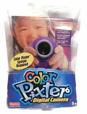 Pixter Fisher Price Color Digital Camera 2004 Age 5+ Click Create Save NEW FUN