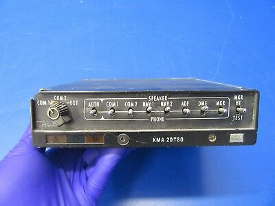 King KMA-20 Audio Panel & Marker Beacon Receiver P/N 066-1024-03 (0418-228)