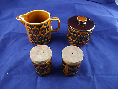 Vintage Hornsea Heirloom Lot Salt Pepper Milk Jug Sugar Bowl