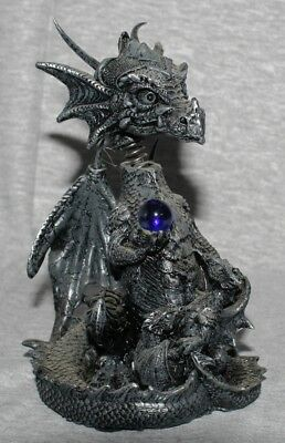 """Bobble Head"" Dragon Statue Fantasy Mythical Gothic Figurine Magic Ornament- E"