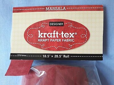 "Kraft-tex Designer Paper - Marsala (red) - 18.5"" x 28.5"" Pre-washed Paper Fabric"