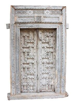 Vintage Antique Handmade Old Rare Wooden Door Royal Collectible Decorative US247