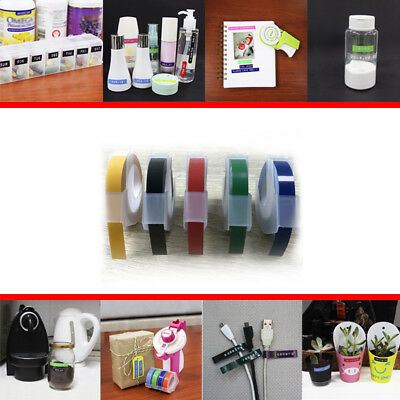 Label Maker Embossing Refill Tape 9mm X 3M for MOTEX Dymo Replacement Colorful
