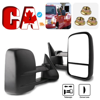 Tow Mirrors for 03-06 Chevy Silverado Sierra Power Heated Black Signal Clearance