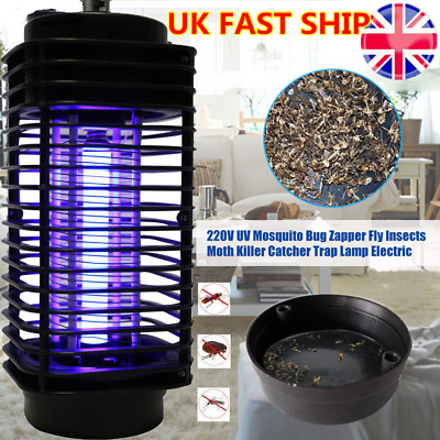 220V LED Socket Electric Mosquito Bug Fly Insect Zapper Trap Night Light Killer