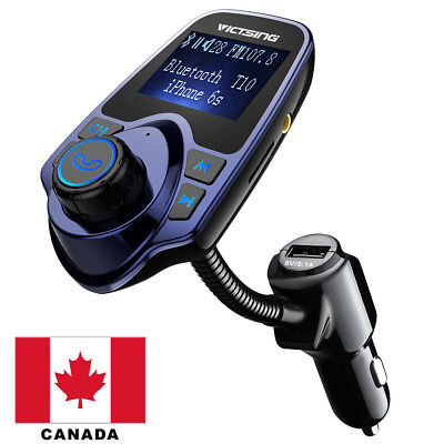 Bluetooth FM Transmitter  Car Charger Wireless Car Kit 3.5mm Audio Port Canada