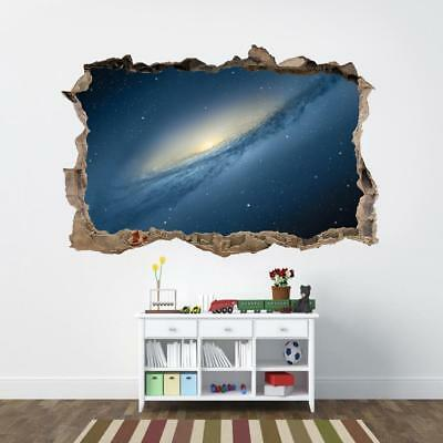 Space Galaxy Interstellar Stars 3D Smashed Wall Sticker Decal Art Mural J1187