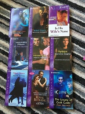 Job Lot Of 9 Silhouette Intrigue Books Like Mills And Boon