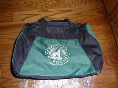 Defenders of Wildlife Black Green Waterproof Nylon Collectible Carry-All Bag NEW