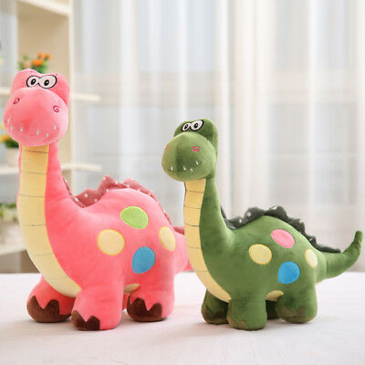 Baby Kids Stuffed Cartoon Dinosaur Fluffy Plush Fur Animal Doll Soft Funny Toys