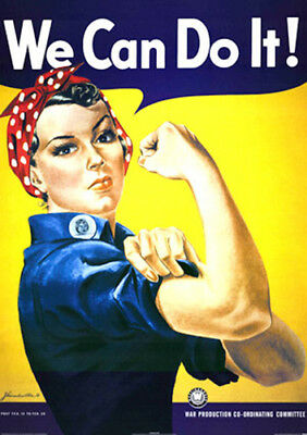 WWII Rosie the Riveter We Can Do It poster replica fridge magnet - new!