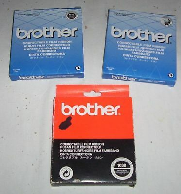 3 x Brother genuine correctable ribbons type 1030 black for AX,LW,WP,JP16-S10