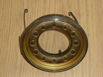 Dial & hinged glazed bezel from French clock c1900