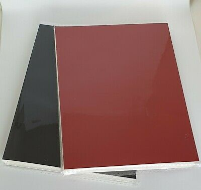 """SMALL photo album 36 pages holds 36 photos 6"""" x 4"""" / 15 x 10cm red/black slip in"""