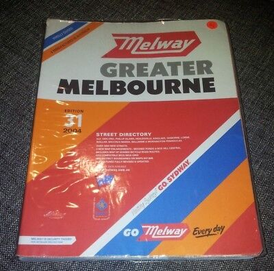 Melway - Greater Melbourne Street Directory - 2004 - Edition 31 - Plastic Cover