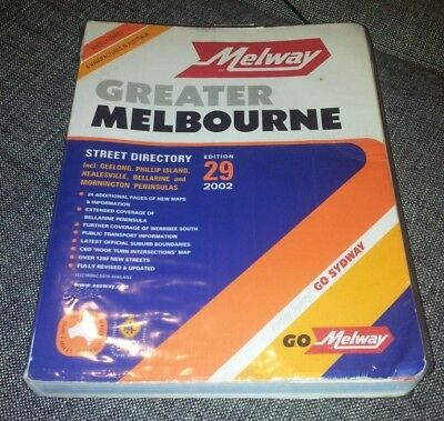 Melway - Greater Melbourne Street Directory - 2002 - Edition 29 - Plastic Cover
