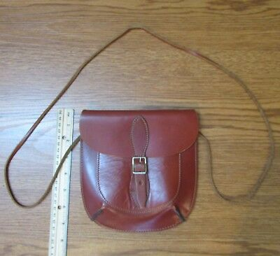 Vintage Hand Made Leather Suede Crossbody Wallet Handbag Small Purse Belt Pouch