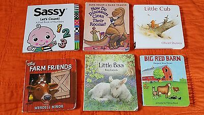 Board Bks (Lot 6) Little Baa, My Farm Friends, Big Red Barn, Little Cub