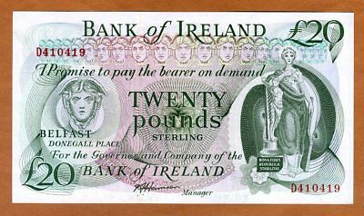 Bank of Ireland, Northern, 20 pounds, ND (1980s), P-67Ab, UNC > Rare