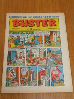Buster 13Th February 1971 Fleetway British Weekly Comic*