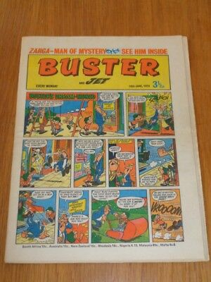 Buster And Jet 16Th June 1973 Fleetway British Weekly Comic*