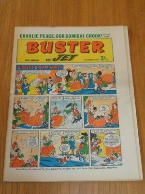 Buster And Jet 5Th August 1972 Fleetway British Weekly Comic*