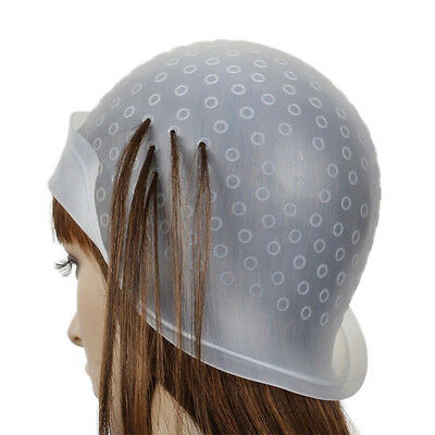 Reusable Silicone Dye Hat Cap for Hair Color Highlighting Hairdressing Meal FJ