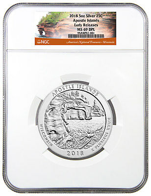 2018 Apostle Islands 5 oz. Silver ATB Beautiful NGC MS69 DPL ER SKU49850