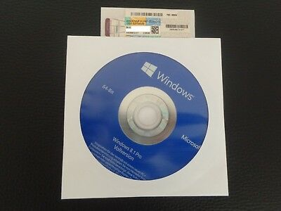 MS Microsoft Windows 8.1 Professional 64 Bit DVD,(OEM)+Key