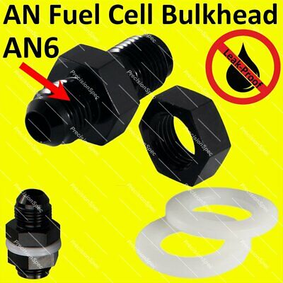 10 AN Fuel Cell Bulkhead With Nut Washer PRE79010BLK