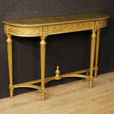 Console golden furniture Italian table wood antique style living room 900