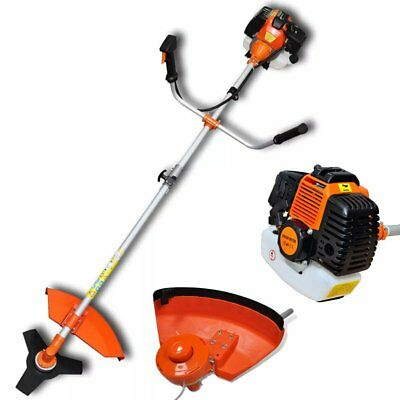 52cc Powerful Petrol Trimmer Garden Grass Brush Cutter Trimmer 2-stroke Orange