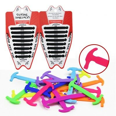 16PCS Shoelaces Easy No Tie Lazy Shoe Laces Trendy Trainers Sneakers Shoestrings