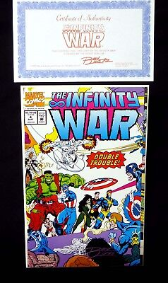 infinity war issue 4 ron lim signed comic with coa marvel comics