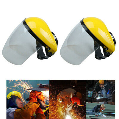 2pcs Clear Safety Face Mask Shield Visor with Head Band Open Close Flip Up