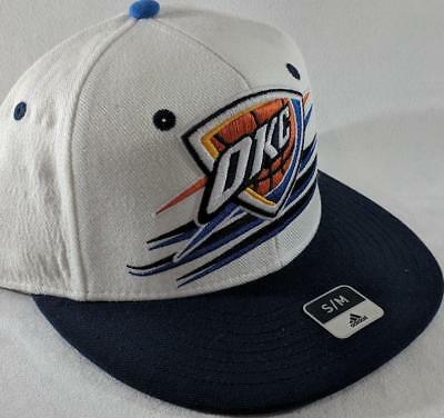 official photos 4333d 35b35 LZ Adidas Adult Fitted S M OKC Thunder NBA Basketball Baseball Hat Cap NEW  F19