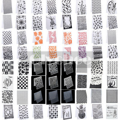 DIY Silicone Clear Rubber Stamps Seal Plastic Embossing Folders Scrapbooking