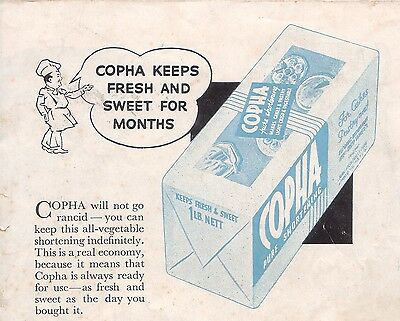 Vintage Copha Chocolate Recipes - PDF file on CD