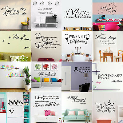Removable Family Quote Wall Sticker Art Vinyl Decal Mural Home Bedroom Decor Lot