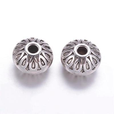 Lot of 10 Pieces Tibetan Style 10mm Antique Silver Alloy Abacus Spacer Beads US